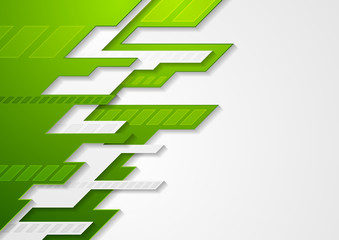 Abstract green grey tech corporate vector background Wall mural
