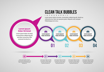 Talk Bubbles Infographic Layout