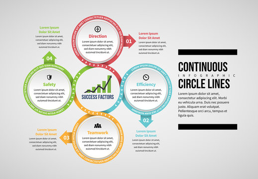 Continuous Circles Infographic Layout