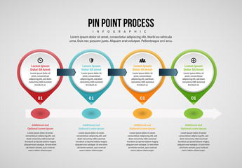Pin Point Process Infographic Layout