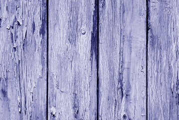 Old grunge wooden fence pattern in blue tone.