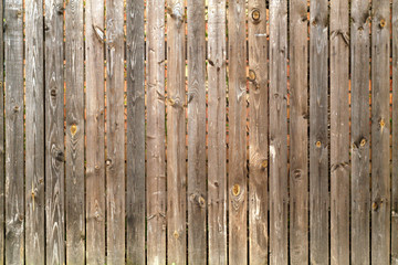 Brown color old wooden fence.