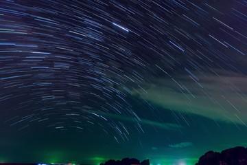 星・雷・島・夜・風景