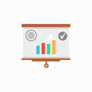Presentation vector icon, infographic chart symbol. Modern, simple flat vector illustration for web site or mobile app.