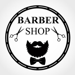 Barber Shop Logo. Barbershop emblem, label, badge, logo.