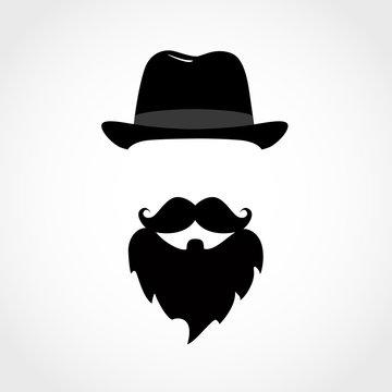 icon man isolated on white background. Gentleman icon.