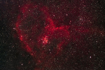 The Heart Nebula IC 1805 in the constellation Cassiopeia as seen from Stockach in Germany.