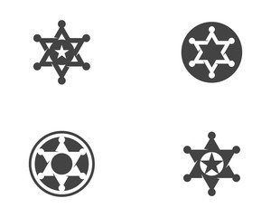 star sherif vector icon template