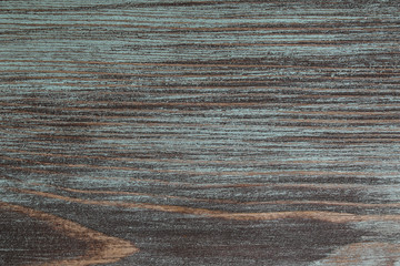 Natural texture of old wood with paint of green color