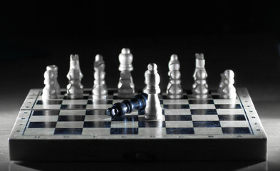 chess composition on the Board.the concept of victory