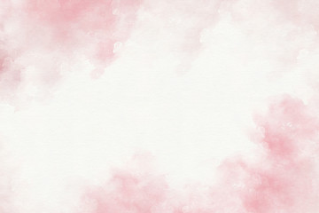 Pink watercolor abstract background. Wall mural