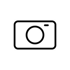 Camera icon vector illustration. Photo camera sign