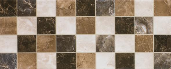 Obraz ceramic tile, abstract mosaic ornamental geometric pattern - fototapety do salonu
