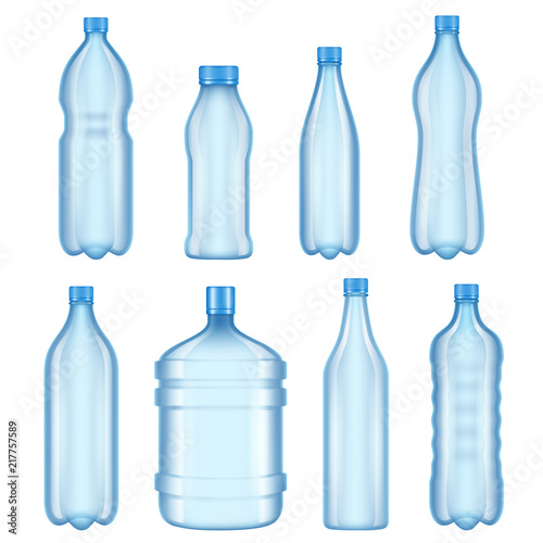 transparent plastic bottles vector illustrations of bottles for