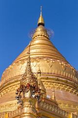 Shwezigon Paya Pagoda, in Bagan Myanmar