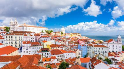 Lisbon, Portugal Skyline Over the Alfama.