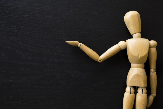 Figura de madera Maniquí Artista humano Dibujar muñeco de madera sujetando
