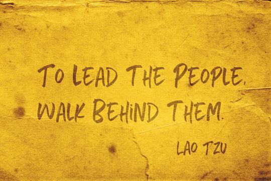 to lead people Lao Tzu
