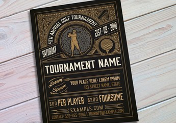 Vintage Golf Tournament Flyer Layout