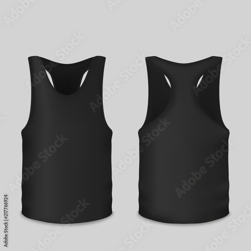 Black tank vector illustration of t shirt 3d realistic model for black tank vector illustration of t shirt 3d realistic model for branding isolated template maxwellsz