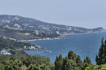 Panorama of the Crimean coast