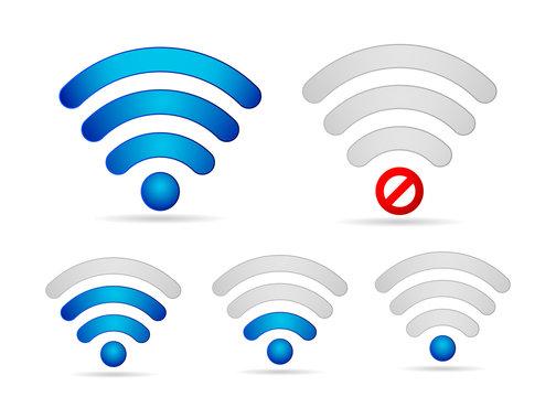 Wifi signal  strength  icon set