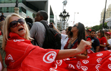 Rally demanding equal inheritance rights for women in Tunis