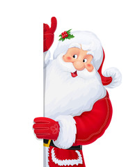 Santa Claus. Christmas cartoon character. Winter holiday. Xmas