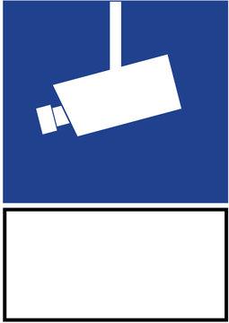 Schild Kameraüberwachung
