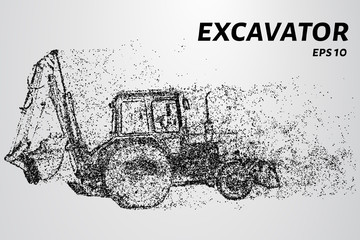 The excavator of the particles. Construction concept design.