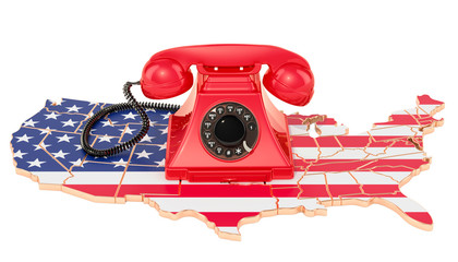 Communication services in the USA, 3D rendering