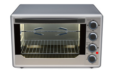 Convection Toaster Oven with Rotisserie and Grill, 3D rendering