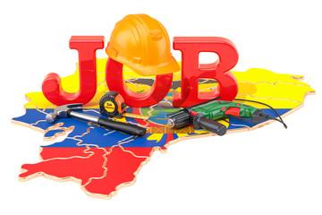Job Vacancies in Ecuador concept, 3D rendering