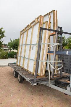 wooden house kit arrive in garden home