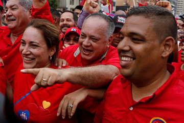 National Constituent Assembly President Cabello attends a rally in support of Venezuela's President Maduro in Caracas