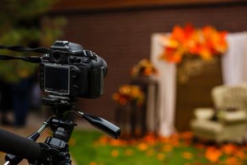 the camera photographs autumn