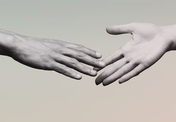 Shake hands on background