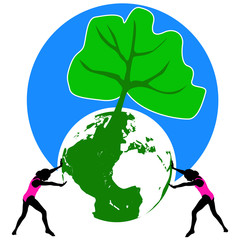 Save the planet! -  inspirational symbol for innocence, children and nature