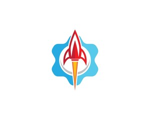 Rocket symbol illustration