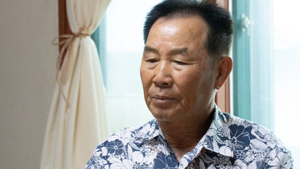 Hwang Rae-ha speaks during an interview with Reuters at his home in Ganghwa