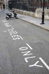 Solo motor cycle only parking on London street