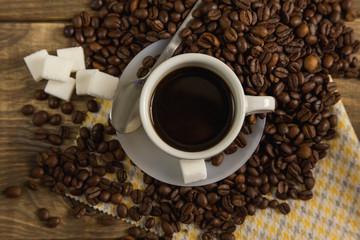 Preparando café en la cabaña