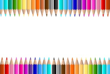 colorful pencil vector background