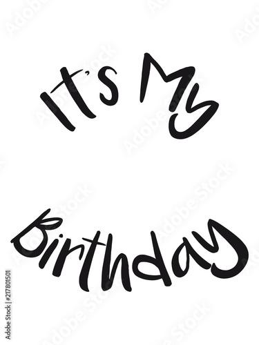 It S My Birthday Geburtstag Feiern Party Jubilaum Fest Geschenke