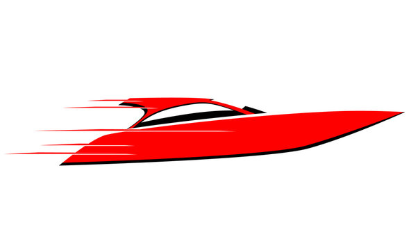 Fast speed boat vector image