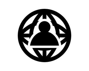 globe figure silhouette black image vector icon logo symbol