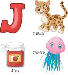 Illustration of J alphabet