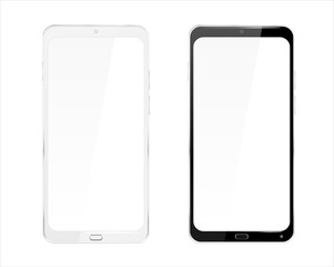 Realistic Cellphone Smartphone Vector of Touchscreen Android Phone Device