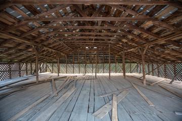 Old Wooden Barn Loft