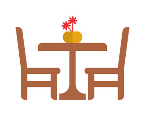 dinning table silhouette furniture furnishing household interior exterior home image vector icon logo